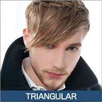 barba para cara triangular